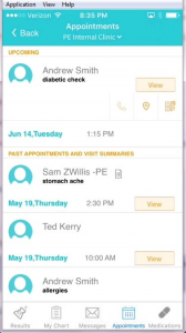 healow-appointments-screen