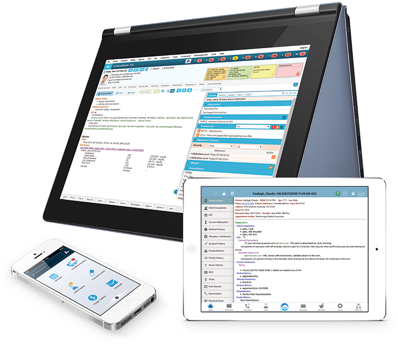 Electronic devices compatible with eClinicalWorks