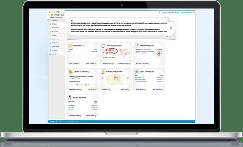 Patient Portal screenshot