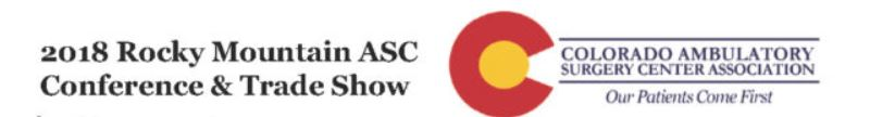 2018 Rocky Mountain ASC Conference & Trade Show