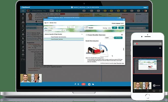 provider screen sharing health education materials