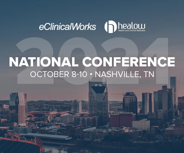 eClinicalWorks and healow 2021 National Conference promo image